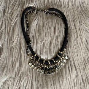 NWOT! LOFT Black & Silver Statement Necklace